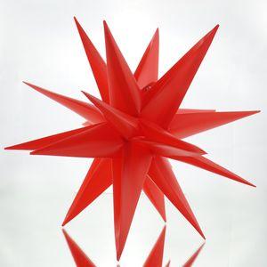 3D Sterne 30 cm rot Weihnachtsstern Kunststoff Lichterkette Lampe Adventsstern in- outdoor