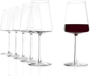 Stölzle Lausitz Power Rotweinkelch 517 ml, 6er Set Rotweingläser spülmaschinenfest bleifreies Kristallglas hochwertige Qualität elegant und bruchbeständig 1590001