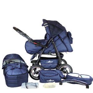Bergsteiger Rio Kinderwagen, 2-in-1 Kombikinderwagen, Megaset 10-teilig, Sportwagen und Zubehör