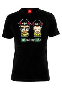 Breaking Bad T-Shirt Men - COMIC DUO - Black, Größe:M