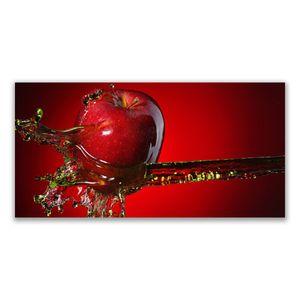 Glasbilder 120x60 Wandbild Druck auf Glas Apfel Wasser Küche
