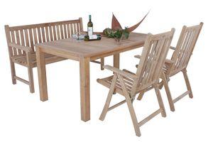 Garden Pleasure Teak Hochlehner Solo Holz Garten Stuhl Sessel Möbel klappbar