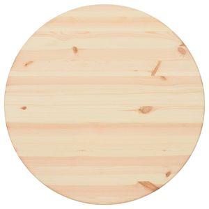 vidaXL Tischplatte Natürliches Kiefernholz Rund 25 mm 60 cm