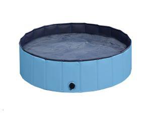 Yaheetech Hundepool Swimmingpool Planschbecken Badewanne Wasserbecken für Hunde 160 x 30 cm