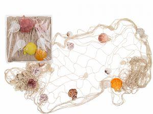 Deko Fischernetz mit Muscheln für maritime Deko