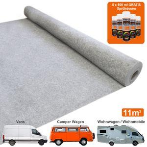 Van Teppich-Verkleidung / Silber Grau & 5 Dosen Mehrzweckkleber