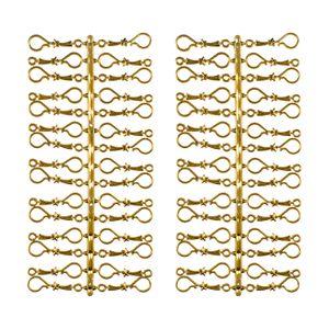 60 Stück Weihnachtskugeln Haken Gold Vintage Aufhänger