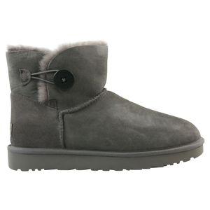 UGG Mini Bailey Button II Boot Stiefel Damen Grau (1016422 GREY) Größe: 37 EU