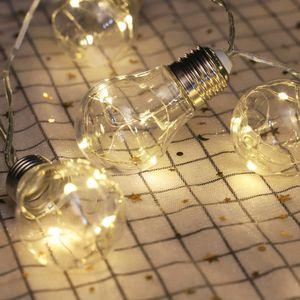 Aussenleuchten 3,3ft LED-Lichterketten mit 10 Gluehbirnen Warmweiss Wasserdicht Bruchsichere Lichterketten Innenleuchten fuer Schlafzimmerparty