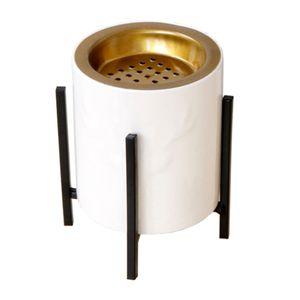 Keramik Weihrauch Räuchergefäß mit Halterung Dichtung Home Deco Black Bracket-L Schwarze Klammer-L wie beschrieben