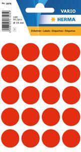 HERMA Markierungspunkte Durchmesser: 19 mm leuchtrot 100 Stück