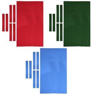 3er Pack Pro Pool Cloth   9 Fuß 0,6 Mm Billard Snooker Tischdecke Mit Streifen Zubehör (Blau + Grün + Rot)