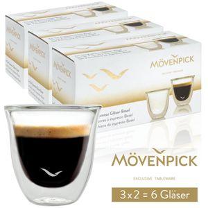 """Mövenpick 6 x """"Basel"""" Espressogläser"""