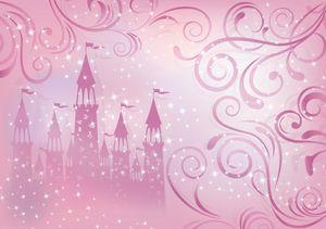 Fototapete Prinzessin Schloss Kinderzimmer (254x184cm - 2 Bahnen) Mädchen Wandtapete Tapete Latexdruck UV-Beständig Geruchsfrei Hohe Auflösung Montagefertig
