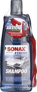 SONAX XTREME Shampoo 2 in 1 1 L + Microfaser WaschHandschuh AKTION