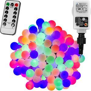 VOLTRONIC® 100 LED Lichterkette Party, bunt, Adapter, FB