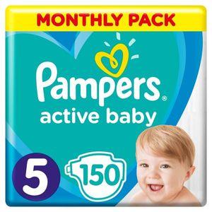 PAMPERS Windel Active Baby 5 Junior 150 Stück