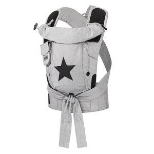 Hoppediz® Bondolino Plus Popeline Design: grau mit Stern, Größe: One Size mit Aufbewahrungsbeutel und bebilderte Bindeanleitung