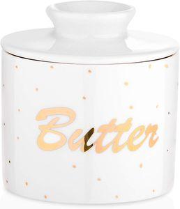 LOVECASA Butterdose Porzellan, Butterbehälter, Französische Butter Crock, BUTTER
