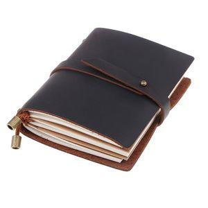 Jahrgang Dunkelbraun Journal Reise Leder Notizblock Notebook Leer Tagebuch Buch