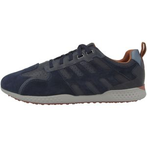 Geox Respira Snake 2 Herren Sneakers Halbschuhe , Größe:EUR 43, Farbe:Blau (Navy / Dk Avio)