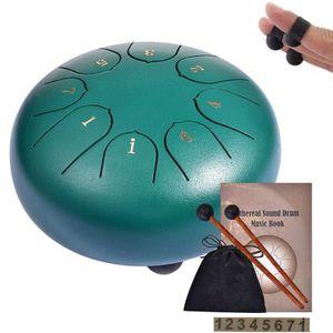 Steel Tongue Drum,  Lotus Flower Pan Drum Percussion Steel Drum Instrument mit Trommelschlägeln