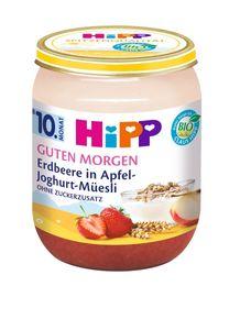 HiPP Guten Morgen ab 10.Monat, Erdbeere in Apfel-Joghurt-Müsli, DE-ÖKO-037 - VE 160g