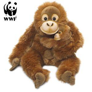 WWF Plüschtier Orang-Utan Mutter mit Baby (25cm) lebensecht Kuscheltier Stofftier Affe