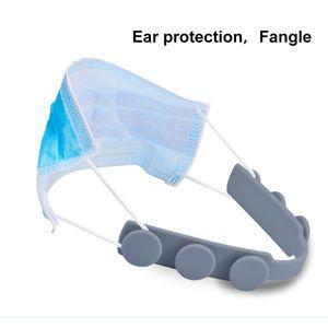 Tuiwewp 4 Stücke Maskenhaken Silikon Ohrhaken Ohrhalter Headset Ohrbügel Ohrpolster Einstellbar Ear Hook für DIY Ma Ske Mundschutz Ohrschutz Gesichtsschutz
