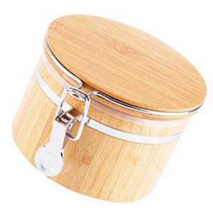 Holz Kaffeedose, Vorratsdose, Teedose Bambus Aufbewahrungsbehälter, Versiegelte Dose - Tee Kaffee Zubehör Größe S.