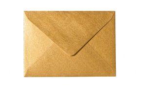 Umschläge DIN B6 (125 x 176 mm) - Gold nassklebend