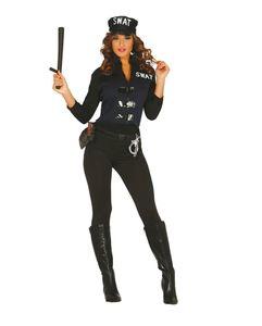 SWAT Spezial Agentin Damenkostüm Größe: M/L