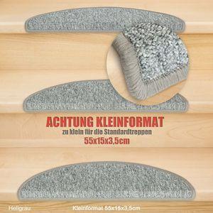 Metzker Stufenmatten Treppenmatten Rambo Kleinformat 55x15x3,5cm Halbrund Grau 15 Stk.