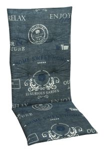 GO-DE Textil, Sesselauflage hoch, Stempel blau, 15225-01