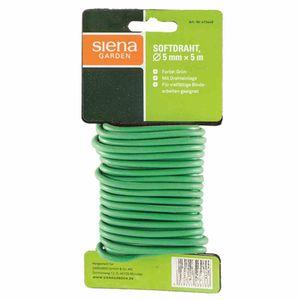 Siena Garden 415-449 Softdraht, 5 m x 5 mm, mit Drahteinlage, grün (5 m)