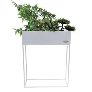 Pflanzkasten 'Verona' Blumenständer 55x20x70cm Weiß
