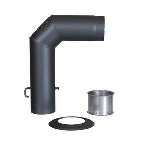 Winkelrohr-Set Senotherm gussgrau 120 mm