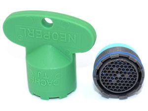 NEOPERL Cache Honeycomb Strahlregler mit Schlüssel TJ/M18.5x1 - grau
