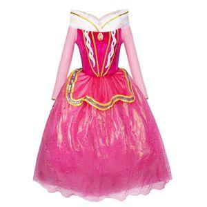 Märchen Prinzessin Kostüm-Kleid für Mädchen inspiriert von Disney's Aurora für Fasching, rosa 104/110