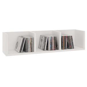 CD/DVD-Regal STARS mit 3 Fächern in weiß