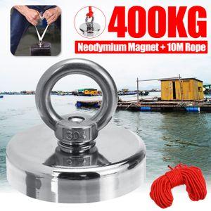 400KG Neodym Fishing Salvage Magnet zur Erkennung von Metallschätzen + 10M Seil