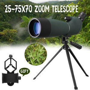 25-75x70 Zoom Teleskop Spektiv + Handy Adapter Komplettset Fernrohr Astronomie