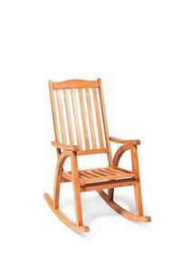 Merxx Garten Schaukelstuhl Relaxsessel Relaxstuhl Armlehnen Eukalyptus Holz geölt; 25923-011