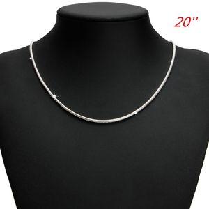 Schlangenkette Halskette Schlš¹sselbein Halskette Silvery Trend 925 Silber 16/18/20/22/24 Zoll Geschenke Frauen Mode
