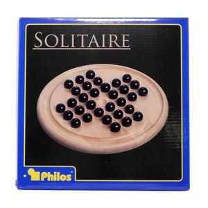 Philos 3155 - Solitaire, Hevea-Holz mit Glaskugeln 4014156031555