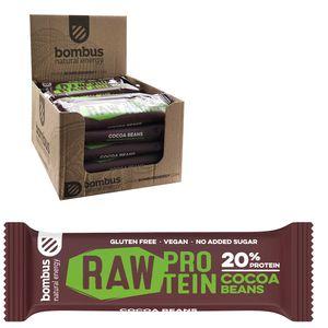 Bombus Veganer 20% Protein Riegel Choco 20 x 50g Glutenfrei Ohne Zuckerzusatz