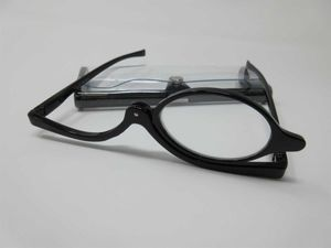 Praktische DAMEN Schminkbrille +1,0 Lesebrille Sehhilfe Schminkhilfe Federbügel