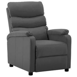 Möbel® Fernsehsessel Relaxsessel,Liegesessel,TV Sessel,Relax Liegestuhl Komfortabel Für Wohnzimmer Grau Kunstleder🌈5502