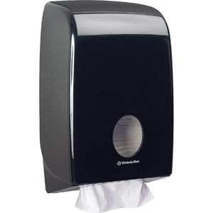 Kimberly-Clark Handtuchspender Aquarius Interfold Schwarz