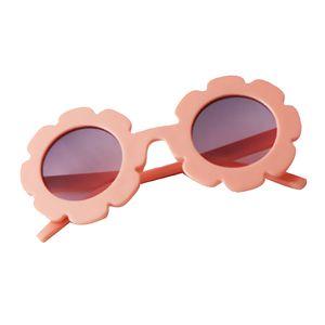 Kinder Sonnenbrille Mädchen Jungen Sonnenbrille Sonnenschutz UV400 Brille Hell-Pink Runden Blumen wie beschrieben